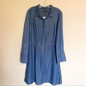 Banana Republic Dresses - Banana Republic 14 blue denim look swing dress